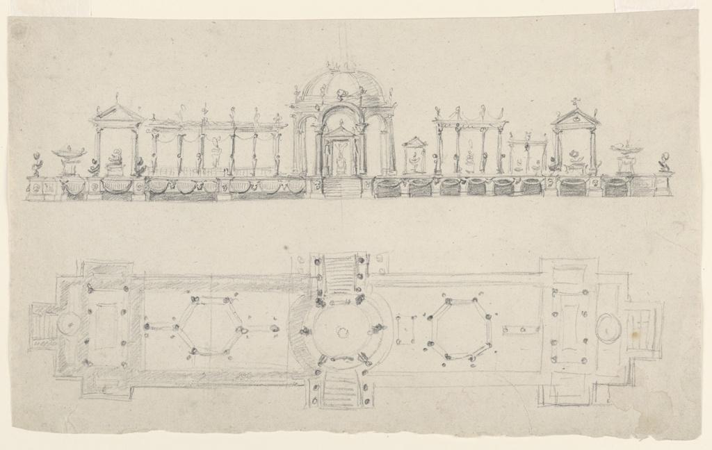 Drawing, Design for a Surtout de Table (Centerpiece)