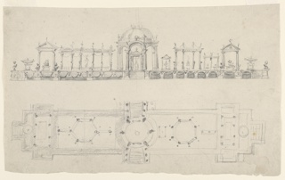 Drawing, Design for a Surtout de Table (Centerpiece)