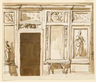 Drawing, Drawing room wall