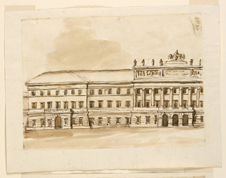 Drawing, Elevation of a palace