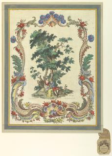 Print, Couple Beneath Tree, 1684-1756