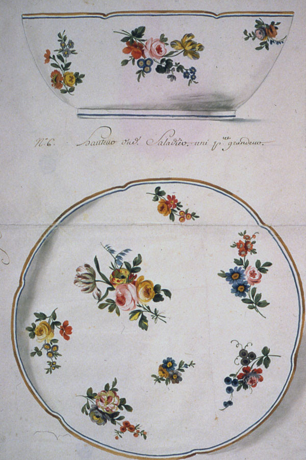 Drawing, Design for a Painted Porcelain Salad Bowl