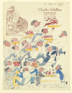 "Drawing, ""Un Mousse de Gar ons"":Wa, 1963"