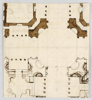 Drawing, Plan of sepulchral building