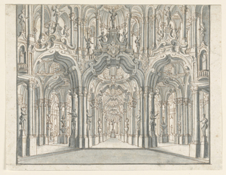 Drawing, Stage Design, Arcaded Palace Hall