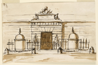 Drawing, Gate of a barracks