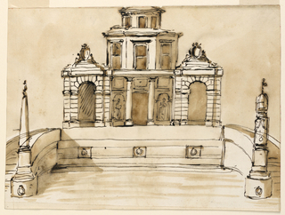Drawing, Design for a casino