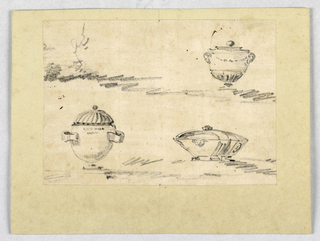 Drawing, Three urns