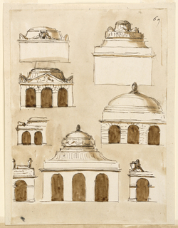 Designs for a Mausoleum.