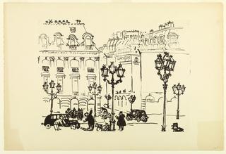 Print, Place Vendome 1954, 1954