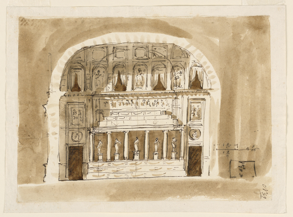 Drawing, Wall elevation