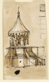 Drawing, Pulpit elevation