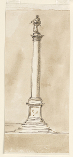 Drawing, Monumental column