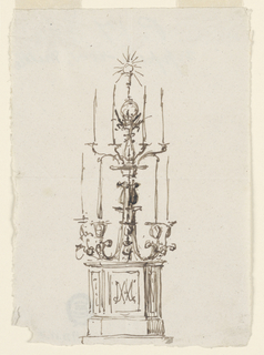 Drawing, Candelabrum