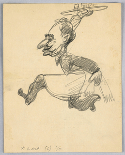 Caricature drawn on the back of a M.L.A. Dinner menu.
