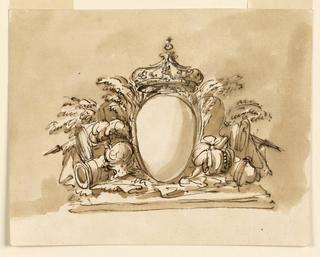 Drawing, Escutcheon