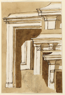 Drawing, Elevations of a mantelpiece