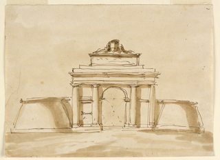 Drawing, Town gate