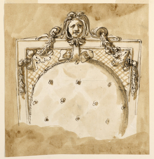 Drawing, Upper part of chair