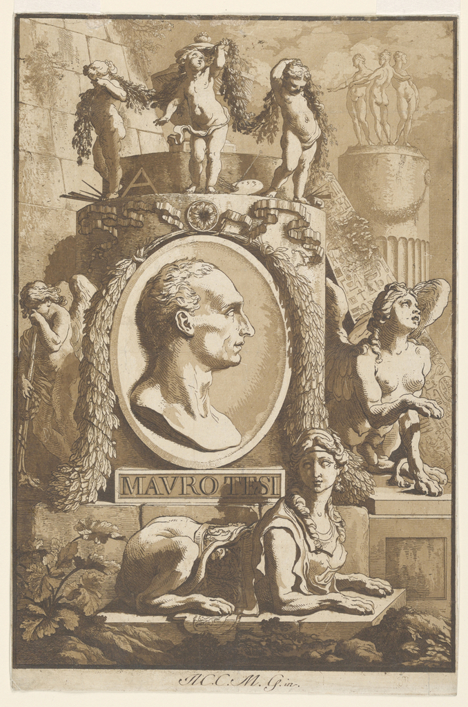 Print, Portrait of Mauro Tesi (l, 1787