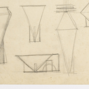 Drawing, Designs for Bowls, Vases, Candlesticks, and Teapots