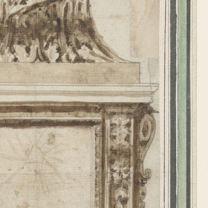 Drawing, Elevation of pedestal and bottom of a crucifix, ca. 1770