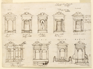 Drawing, Windows, doors, church furniture (Carlo M. de Guidici)