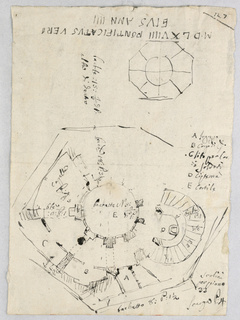 Drawing, Plan of a bastion