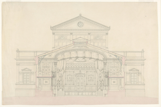 Drawing, Transverse Section of Theater