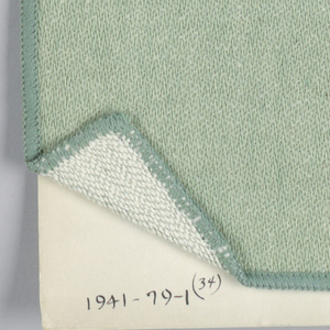 Forty-six bedspread samples mounted on cardboard with accompanying photograph of whole bedspread.  Various types of two-tone, a few three-tone, designed, mostly of cotton mixtures, a few of rayon.  The twenty-one samples are numbered as follows:  1941-79-1-2,3,4,5,7,8,12,13,14,15,16,17,18,19,21,22,24,29,30,34,37