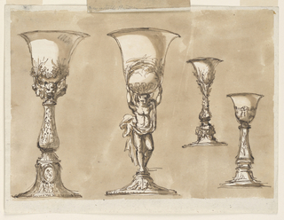 Drawing, Four chalices