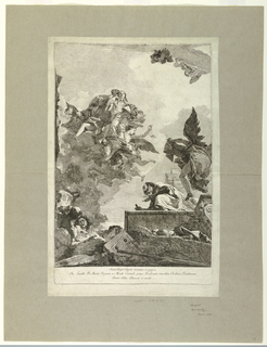 Print, The Apparition of the Virgin to Saint Simon Stock