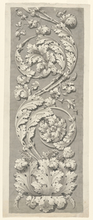 Drawing, Acanthus Ornament, 1750–1800