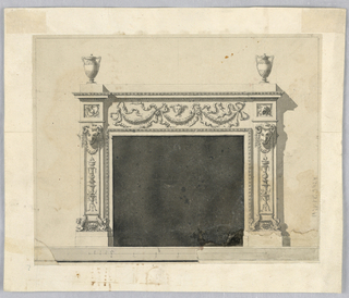 Drawing, Elevation of a mantlepiece