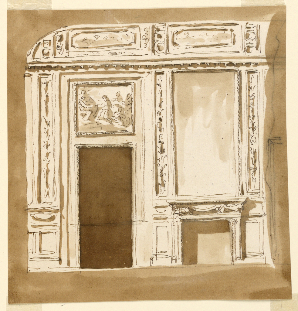 Drawing, Elevation of a wall