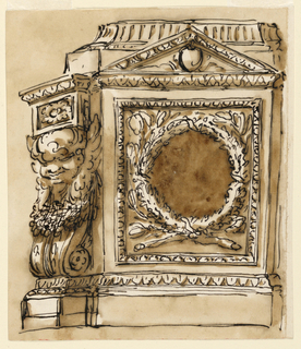 Drawing, Elevation of a pedestal