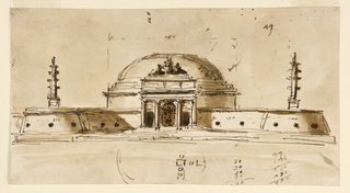 Drawing, Elevation of a memorial structure