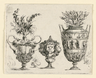 Print, Vases, from Le Blanc 4., ca. 1750