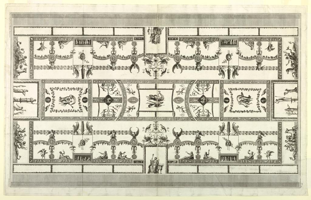 Print, Ceiling Design, 19th century
