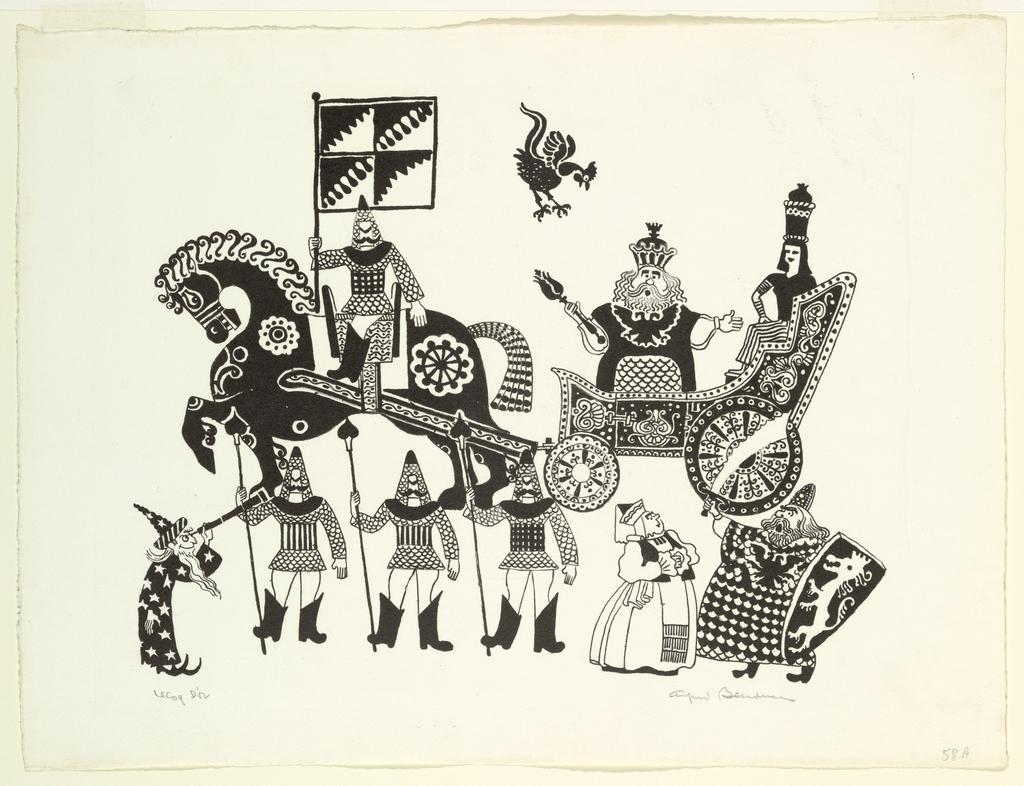 Print, Le Coq d'Or, 1945