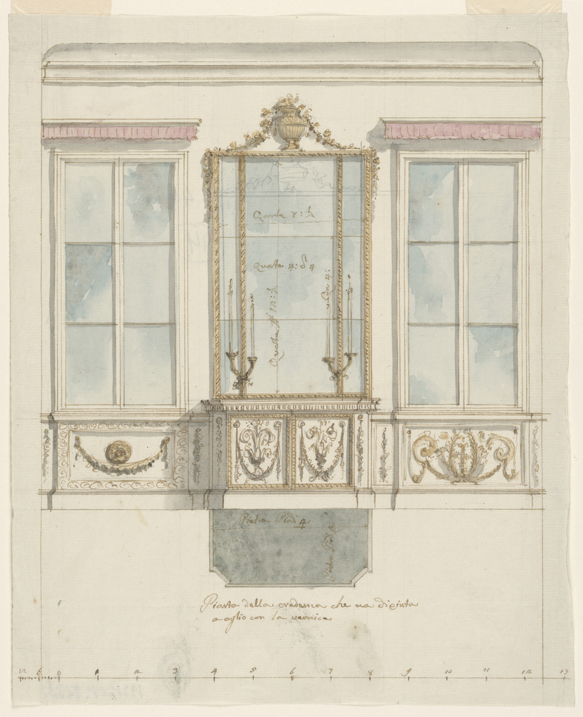 Decoration, wall and window in a dining room