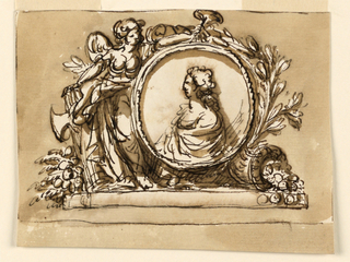 Drawing, Allegorical portrait