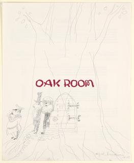 Drawing, Doorman Calling a Taxi fo, 1962