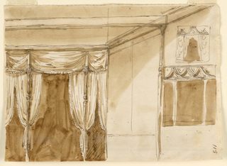Drawing, Bed alcoves