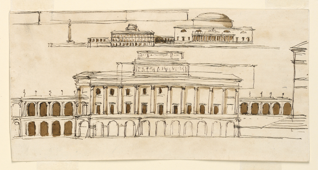 Drawing, Palace, 1746-1809