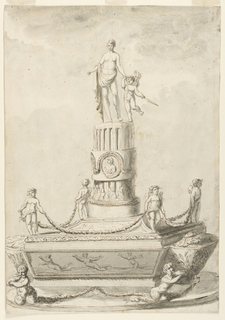 Drawing, Inkstand