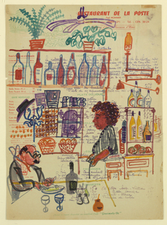 Drawing, Restaurant-Bar Interior w, 1954