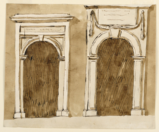 Drawing, Two doorcases
