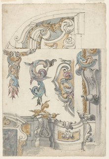 Drawing, Architectural Ornaments:, 1675–1700
