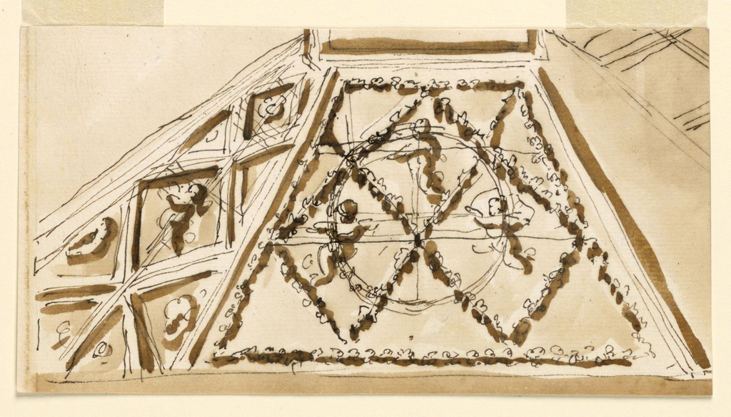 Drawing, Design for Ceiling Decoration, 1746-1809